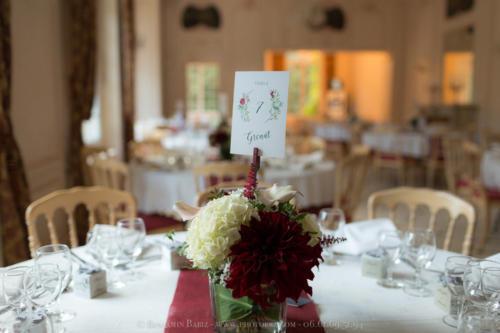 Centre de table automnal aromatique fleuriste mariage