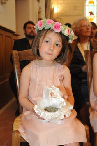 Couronne fleurie pour enfant aromatique fleuriste mariage