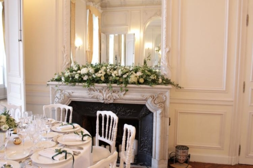 cheminée fleurie aromatique fleuriste mariage