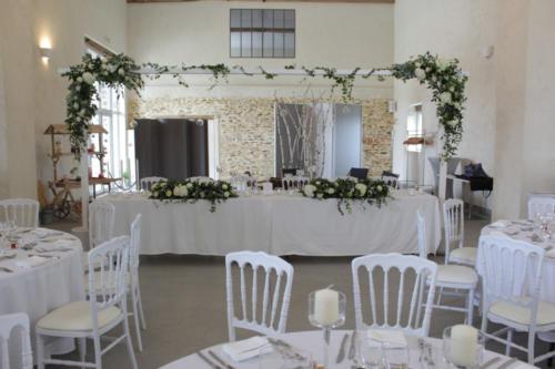 Table d'honneur fleurie aromatique fleuriste mariage