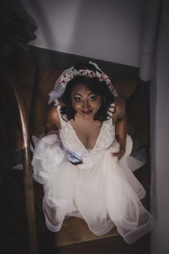 Couronne de gypsophile pour la mariée aromatique fleuriste mariage