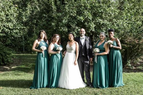 Bouquet de roses pour les demoiselles d'honneur aromatique fleuriste mariage