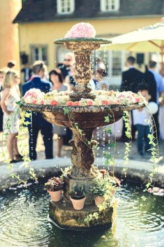 fontaine fleurie aromatique fleuriste mariage